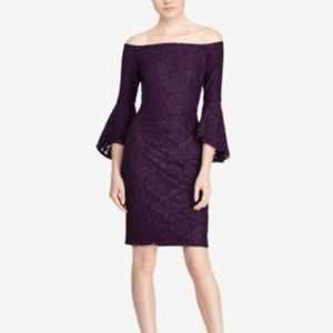 Lauren Ralph Lauren Off The Shoulder Sheath Dress